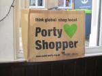 Transition Portobello's shopping bag